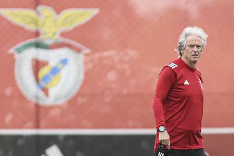 Jorge Jesus no treino do Benfica nesta segunda-feira (Foto: Divulgação / Benfica / Site oficial)