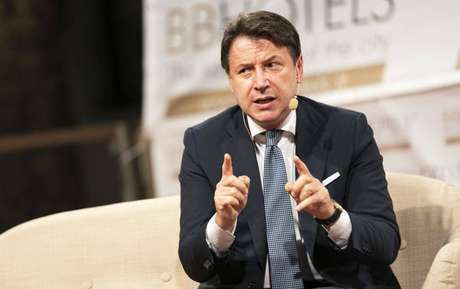 Primeiro-ministro Giuseppe Conte participa de evento em Ceglie Messapica, no sul da Itália