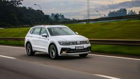 Volkswagen Tiguan R-Line: versão mais vendida tem 220 cv de potência.