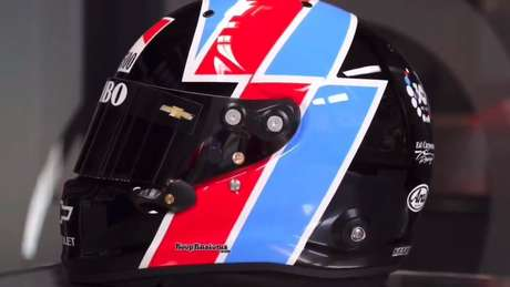 O capacete de Rinus VeeKay para as 500 Milhas de Indianápolis