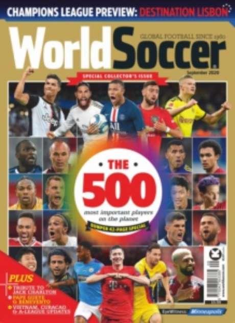 Capa da revista destaca Gabigol e Daniel Alves (Reprodução)