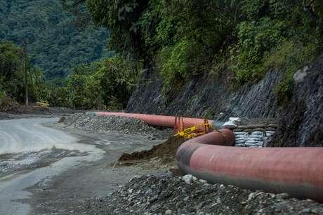 Oleoduto danificado na Amazônia equatoriana 19/06/2020 Ivan Castaneira/Agencia Tegantai/Divulgação via REUTERS