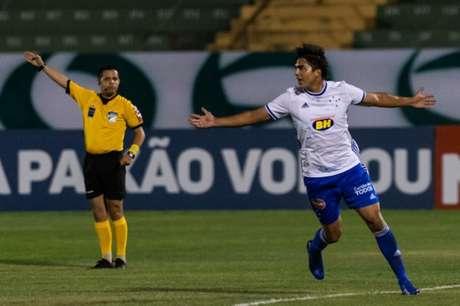 Moreno ainda não havia marcado gol desde a sua volta ao Cruzeiro, em 2020-(Bruno Haddad/Cruzeiro)