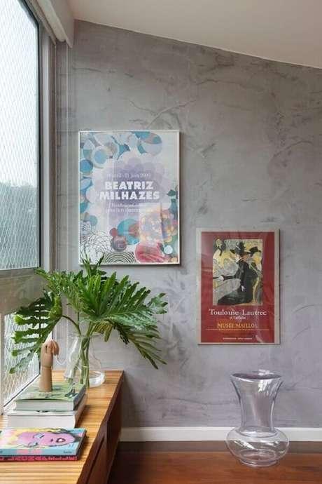 9- O marmorato produz um efeito moderno nas paredes dos apartamentos. Fonte: Pinterest