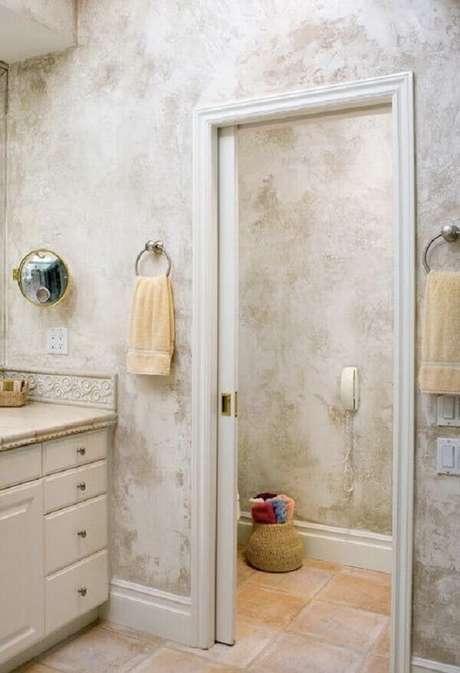24- O marmorato é uma textura que pode ser aplicada para valorizar a decoração. Fonte: Pinterest