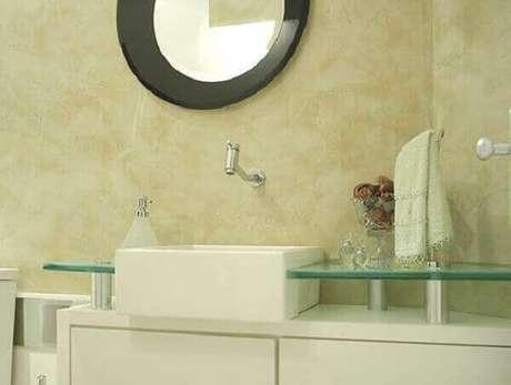27- As paredes com efeito marmorato necessitam de acabamento com cera. Fonte: Pinterest