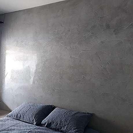 10- O efeito marmorato decora quarto de casal. Fonte: Instaview