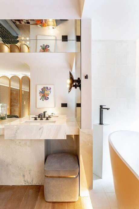28- O marmorato foi utilizado como acabamento em detalhes decorativos. Fonte: Pinterest