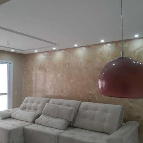 56- As paredes com marmorato é uma ótima opção para renovar os ambientes. Fonte: Pinterest