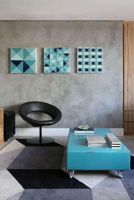 40- Os efeitos decorativos da parede com marmorato complementam o estilo moderno. Fonte: Pinterest
