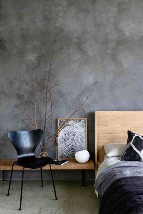 70. Quarto decorado com marmorato – Via: Pinterest