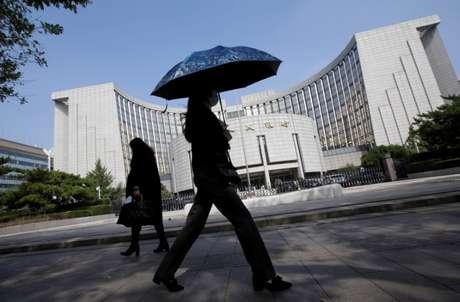 Sede do banco central da China em Pequim. REUTERS/Jason Lee