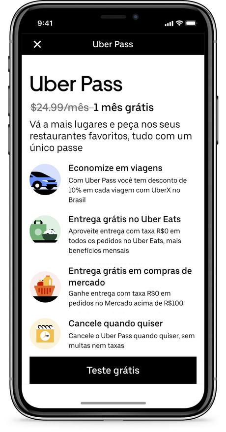 A empresa de mobilidade Uber lançou, na última terça-feira (11/08), o seu plano de assinatura Uber Pass