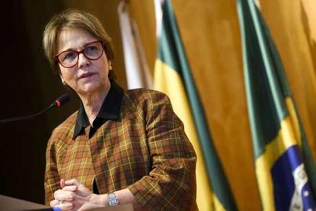 A ministra da Agricultura, Tereza Cristina.