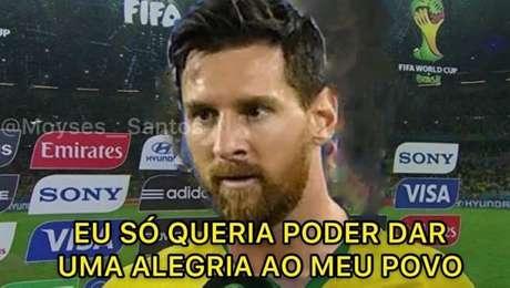 Montagem com Messi relembra entrevista dada por David Luiz depois do 7 a 1