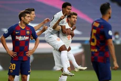 Thomas Muller marcou dois gols contra o Barcelona (Foto: AFP)