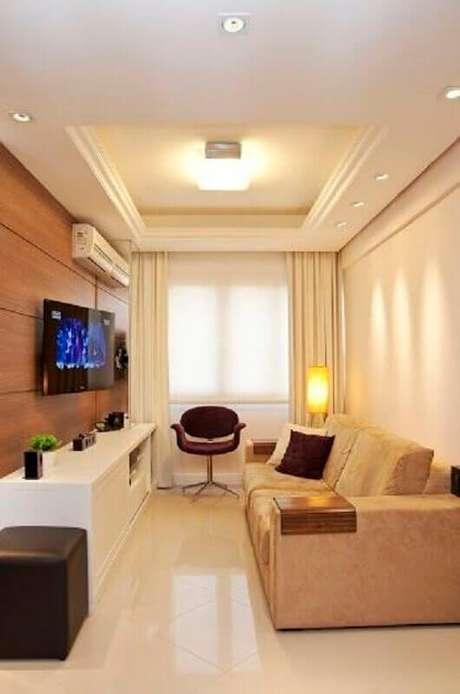 5. A poltrona decorativa giratória é ótima para ambientes pequenos – Foto: Pinterest