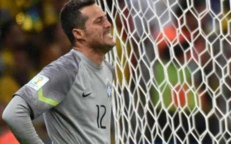 Júlio César foi o goleiro do Brasil na goleada para a Alemanha por 7 a 1 (Foto: AFP)