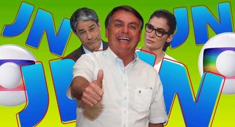 A overdose de manchetes ruins no JN não impediu Bolsonaro de aumentar sua popularidade