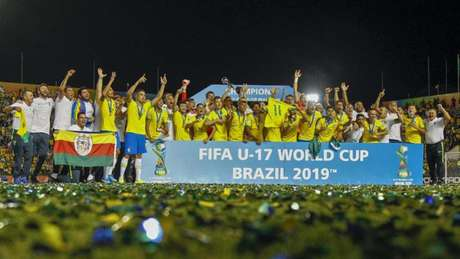 Brasil foi campeão da Copa do Mundo Sub-17 em 2019 jogando em casa (Foto: AFP)