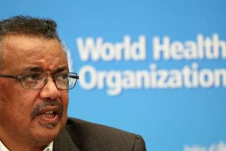 Diretor-geral da OMS, Tedros Adhanom, durante entrevista coletiva em Genebra 30/01/2020 REUTERS/Denis Balibouse