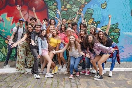 Foto de divulgação do musical teen De Cima do Muro (tirada antes da pandemia)