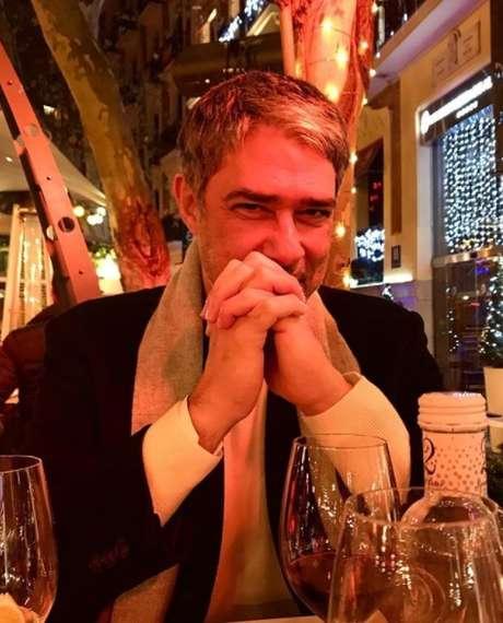 William Bonner em momentos de calmaria e felicidade