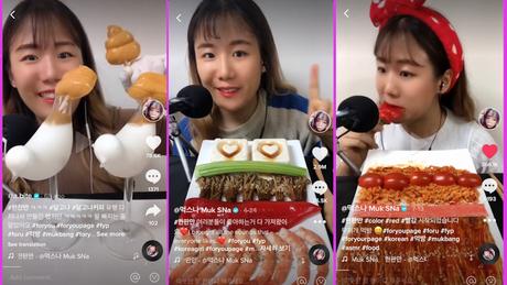 'Muk Sna', estrela do mukbang, publica vídeos comendo alimentos quase diariamente
