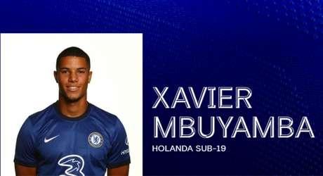 Xavier Mbuyamba é bastante elogiado por seu vigor físico e bom posicionamento defensivo, e é comparado a Virgil Van Dijk, do Liverpool (Divulgação Chelsea)