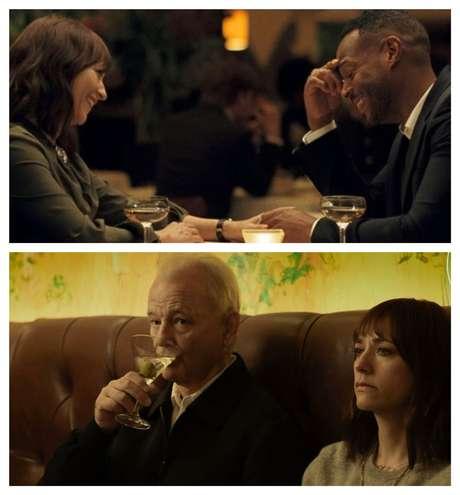 Acima, Laura e Dean, o casal que enfrenta o distanciamento na relação; abaixo, Felix e a filha em uma das várias cenas de papo-cabeça com bom humor