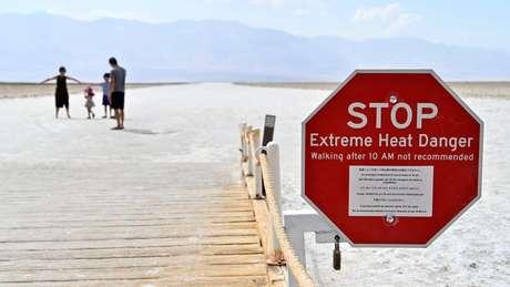 """Vale da Morte é conhecido como o """"lugar mais quente da Terra"""""""