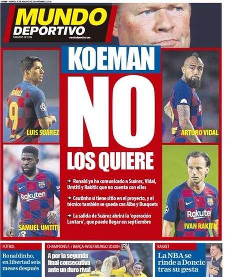 Capa da próxima edição do Mundo Deportivo (Foto: Reprodução/Mundo Deportivo)