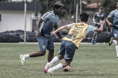 Raniel chegou ao Santos em janeiro e já tem dois gols com a camisa santista (Foto: Ivan Storti/Santos FC)