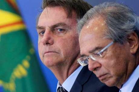 Presidente Jair Bolsonaro e ministro da Economia, Paulo Guedes 20/02/2020 REUTERS/Adriano Machado
