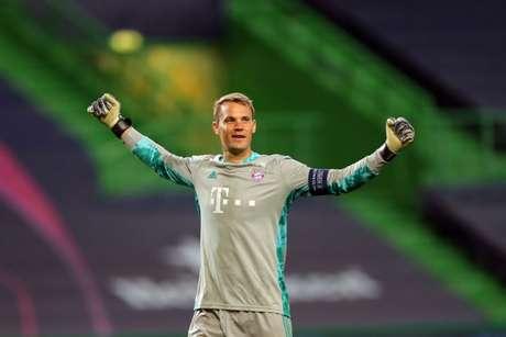 Neuer foi um dos destaques do Bayern na reta final da Liga dos Campeões (Foto: MIGUEL A. LOPES / POOL / AFP)