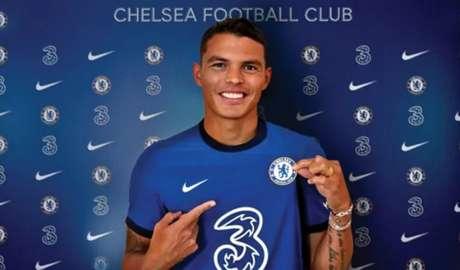Thiago Silva tem contrato com o Chelsea por uma temporada (Foto: MATTHEW CHILDS / POOL / AFP)
