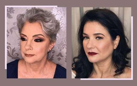 Exemplos de maquiagem em pele madura