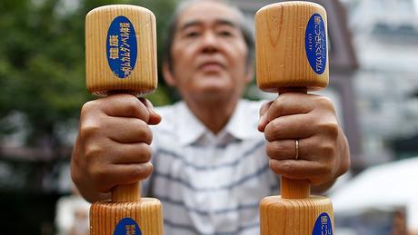 A queda nos níveis de exercícios entre os idosos é particularmente preocupante no Japão