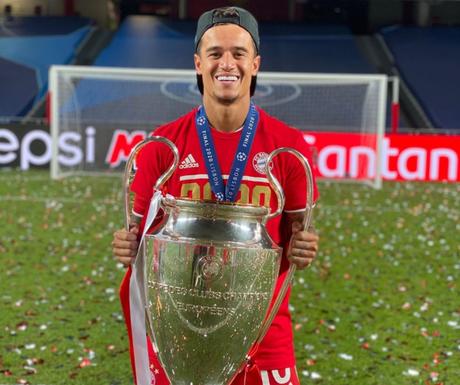 Coutinho foi campeão da Champions com o Bayern (Foto: Divulgação/Instagram)