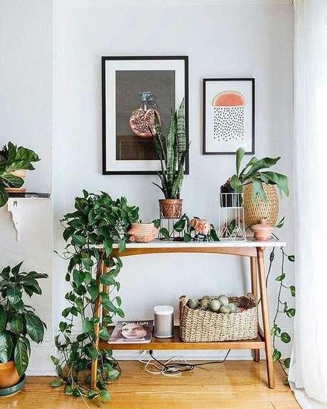 20. Mesa pé palito aparador – Via: Pinterest