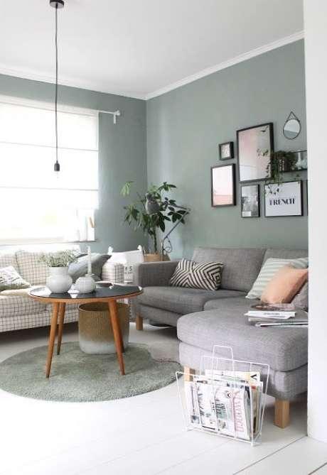 26. Mesa pé palito com sofá e chaise – Via: Pinterest