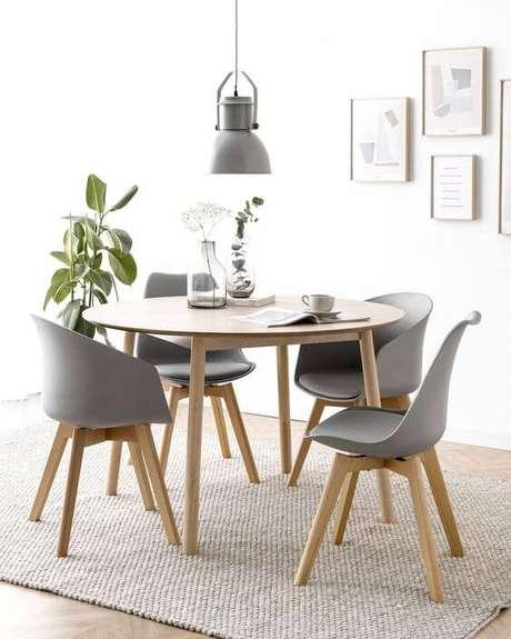 40. Mesa pé palito na sala de jantar – Via: Pinterest