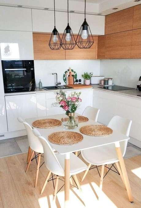 42. Cozinha com mesa pé palito – Via: Noiva de Evase