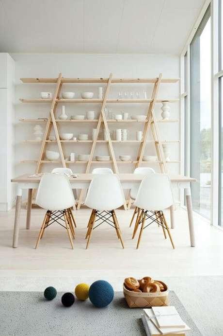 19. Mesa pé palito com mesa de jantar – Via: Pinterest