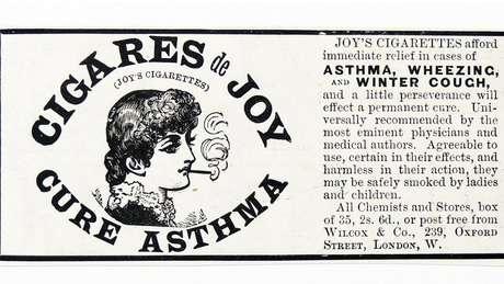 O tratamento com cigarro para asma e outros problemas respiratórios era comum na década de 1950