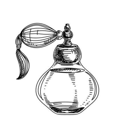 Antigos nebulizadores de asma se pareciam muito com os antigos sprays de perfume, como o que vemos nesta ilustração
