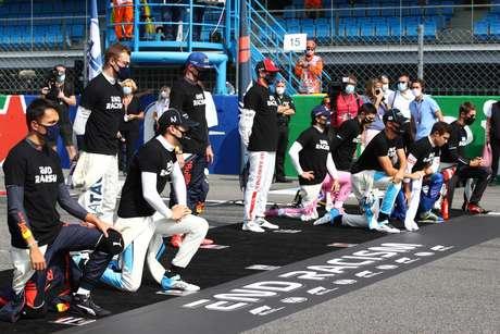 Hamilton e Vettel perderam o protesto antirracista