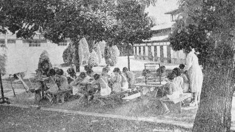 'Havia uma discussão de educadores contra a experiência da escola do passado, pensando-se em uma que fosse mais amigável, promovesse a defesa da democracia, para criar uma geração mais pacífica e solidária'; acima, uma aula no Parque da Água Branca, zona oeste de São Paulo