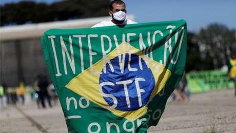 Manifestações organizadas por apoiadores de Bolsonaro pediam fechamento do Supremo e do Congresso Nacional.
