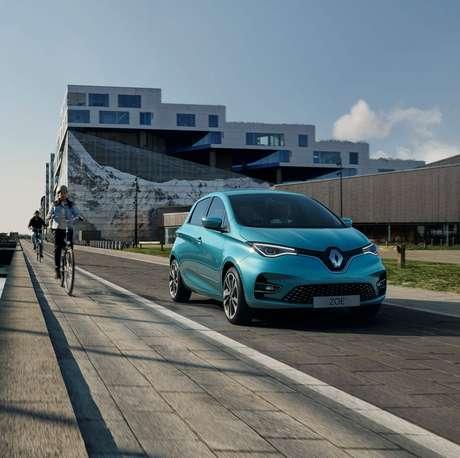 Renault Zoe: experiência de sucesso enorme na Europa, mas ainda bem discreto no Brasil.